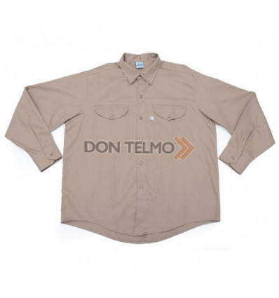 Camisa Ombu Talle 48 Beige